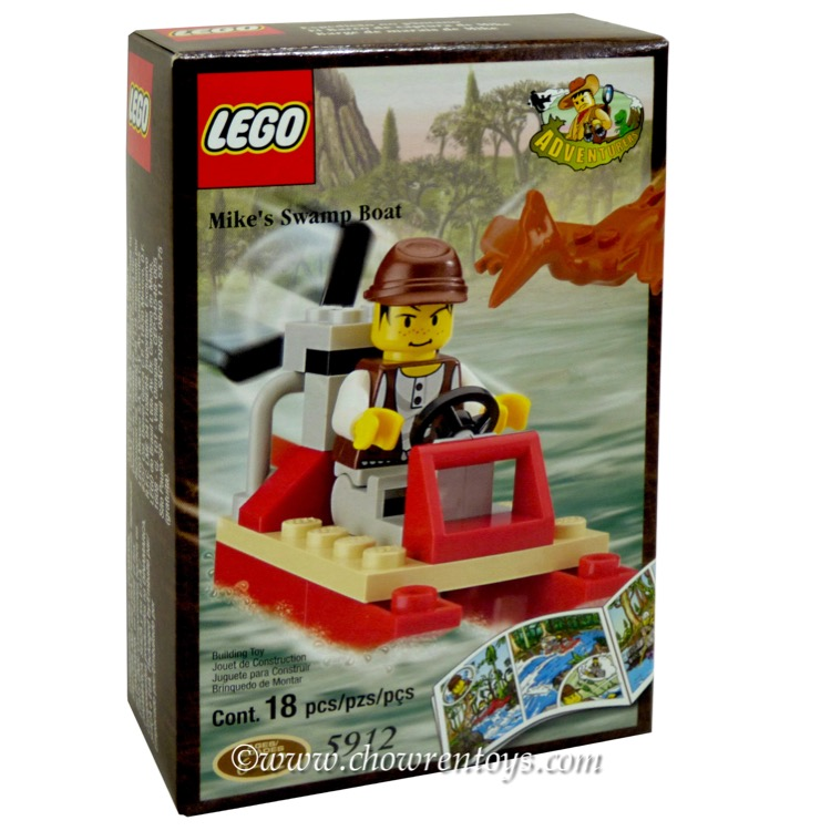 LEGO Adventurers Sets: Dino Island 5912 Mike's Swamp Boat NEW