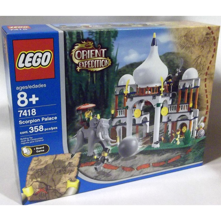 LEGO Adventurers Sets: Orient Expedition India 7418 Scorpion Palace NEW