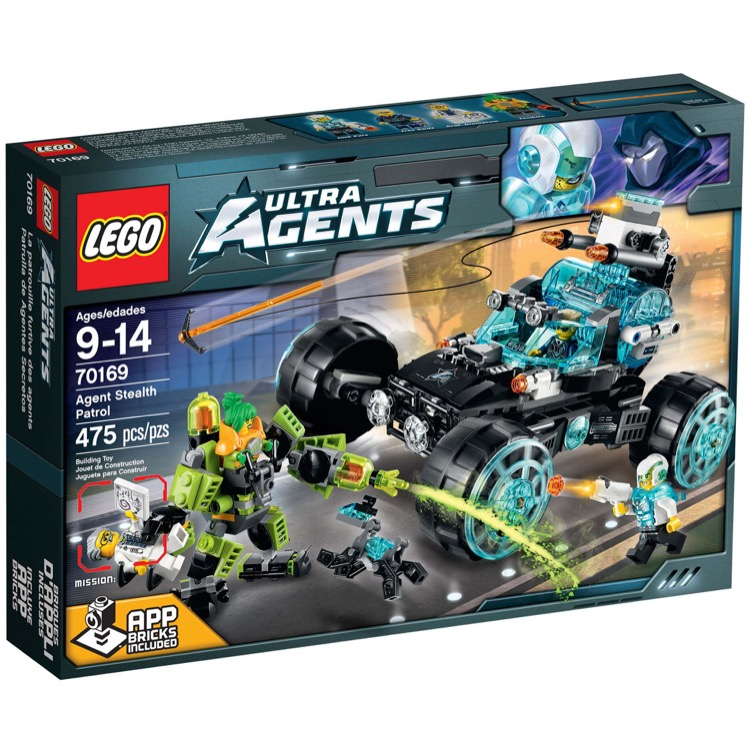 LEGO Ultra Agents Sets: 70169 Agent Stealth Patrol NEW