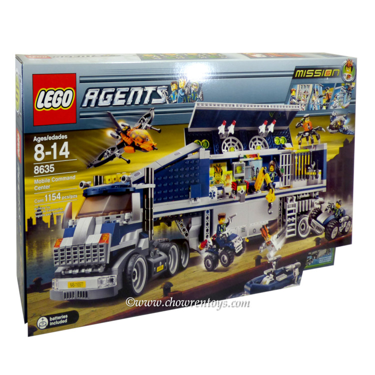 LEGO Agents Sets: 8635 Mission 6: Mobile Command Center NEW