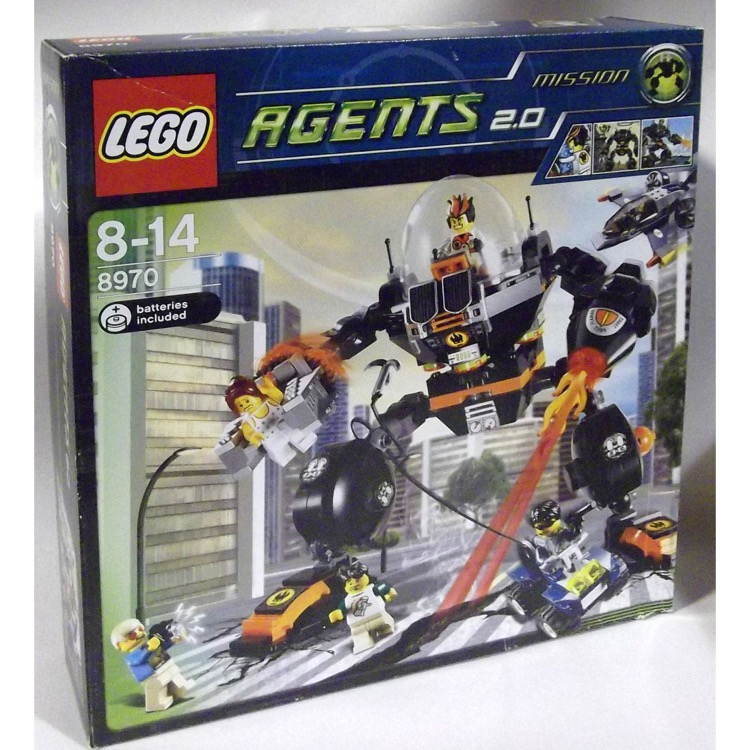 LEGO Agents Sets: 8970 Robo Attack NEW *Damaged Box*