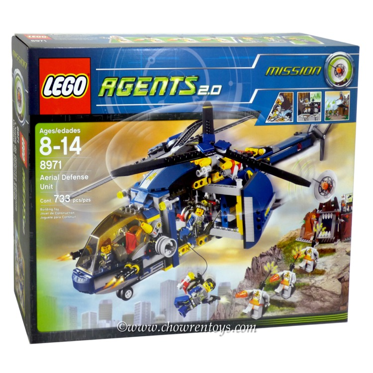 LEGO Agents Sets: 8971 Aerial Defense Unit NEW