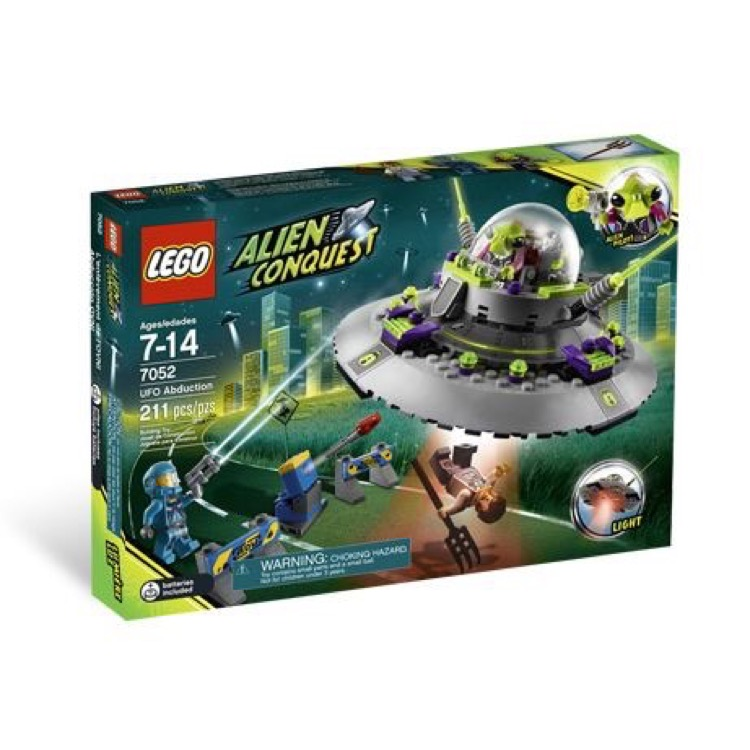 LEGO Alien Conquest Sets: 7052 UFO Abduction NEW *Damaged Box*