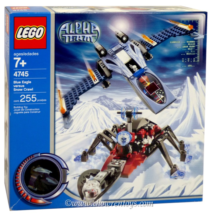LEGO Town Sets: LEGO Alpha Team Arctic 4745 Blue Eagle vs. Snow Crawler NEW
