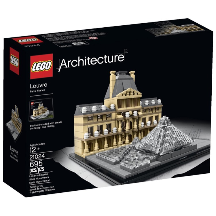 LEGO Architecture Sets: 21024 Louvre NEW