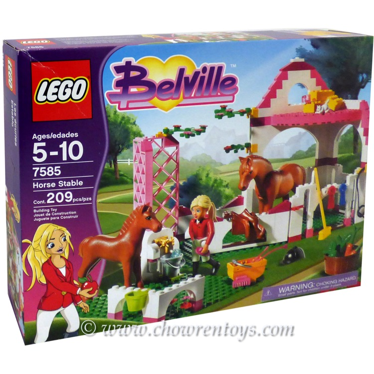 LEGO Belville Sets: 7585 Horse Stable NEW *Rough Shape*