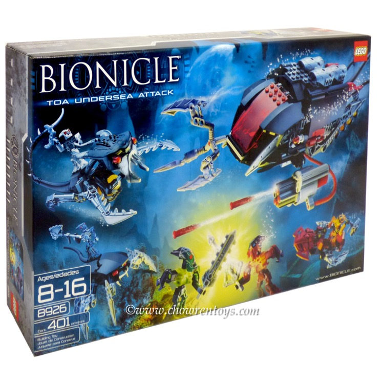 LEGO BIONICLE Sets: Mahri Nui 8926 Toa Undersea Attack NEW *Damaged Box*