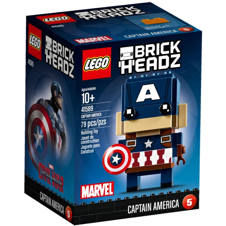LEGO BrickHeadz Sets: 41589 Captain America NEW