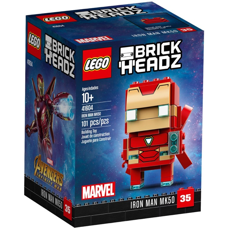 LEGO BrickHeadz Sets: 41604 Iron Man MK50 NEW