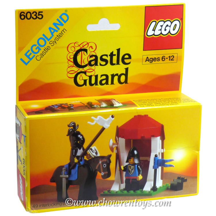LEGO Castle Sets: Black Knights 6035 Castle Guard NEW #1