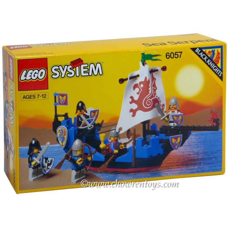 LEGO Castle Sets: Black Knights 6057 Sea Serpent NEW