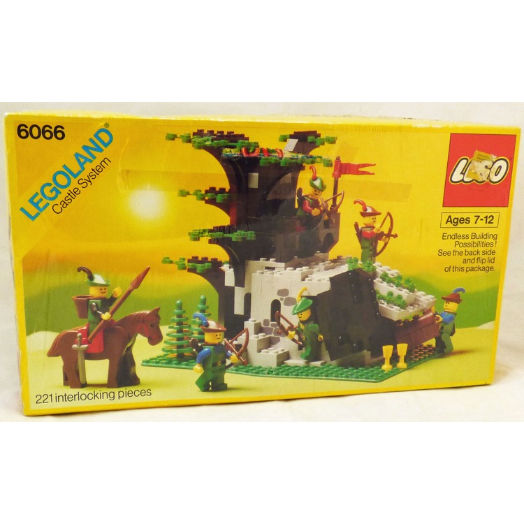 Lego Castle Sets Forestman 6066 Camouflaged Outpost New Damaged Box