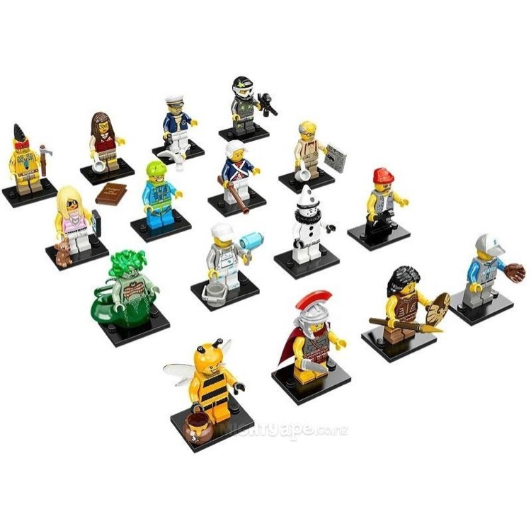 LEGO Collectible Minifigures: 71001 Series 10 Collection of all 16 (except Mr Gold) NEW