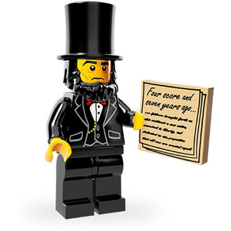 LEGO Collectible Minifigures: 71004 The LEGO Movie Series Abraham Lincoln NEW