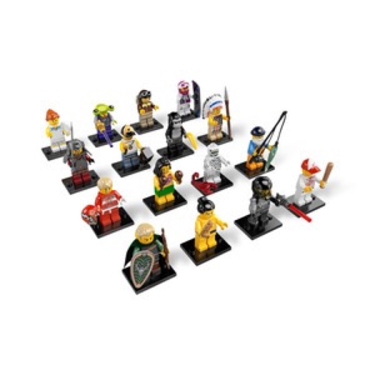 LEGO Collectible Minifigures: 8803 Series 3 A Collection of all 16 NEW