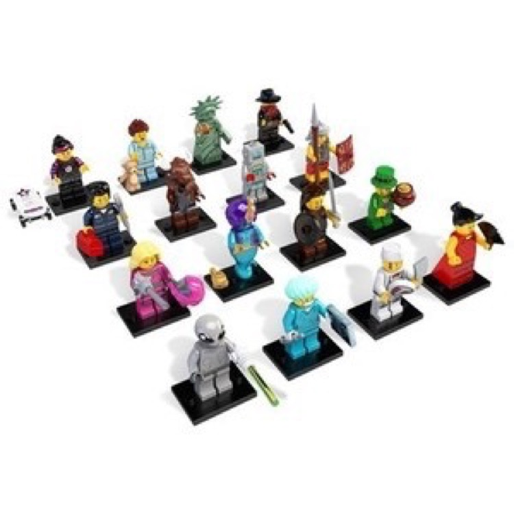 LEGO Collectible Minifigures: 8827 Series 6 A Collection of all 16 NEW