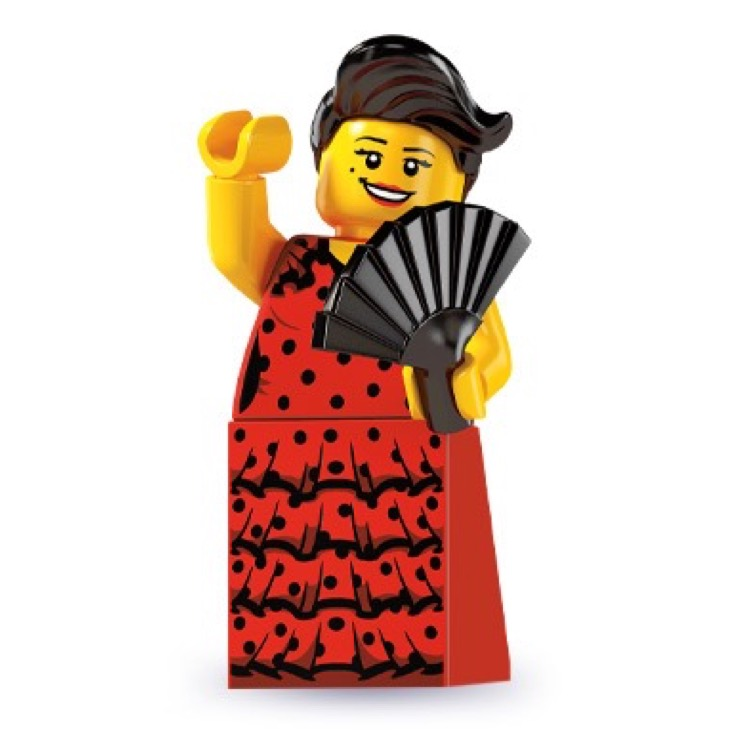 LEGO Collectible Minifigures: 8827 Series 6 Flamenco Dancer NEW