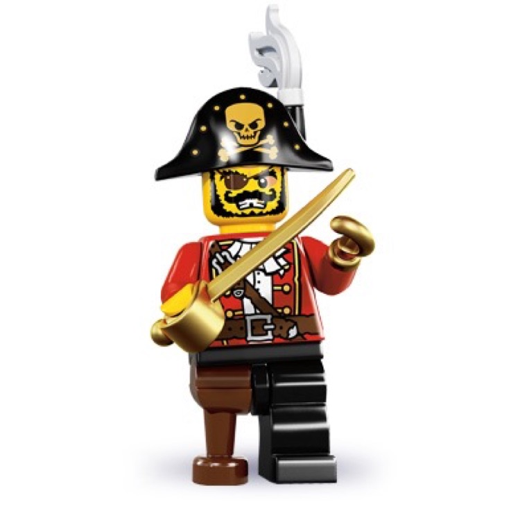 LEGO Collectible Minifigures: 8833 Series 8 Pirate Captain NEW