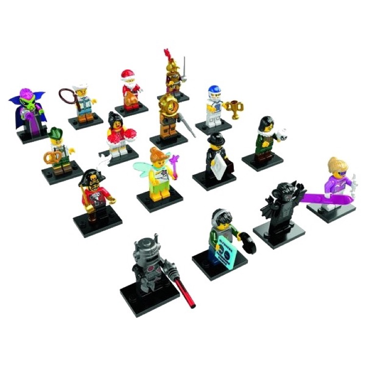 LEGO Collectible Minifigures: 8833 Series 8 A Collection of all 16 NEW