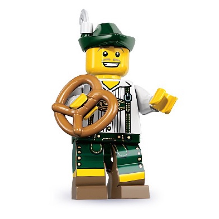 LEGO Collectible Minifigures: 8833 Series 8 Lederhosen Guy NEW