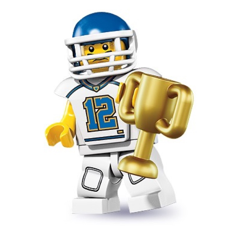 LEGO Collectible Minifigures: 8833 Series 8 Football Player NEW