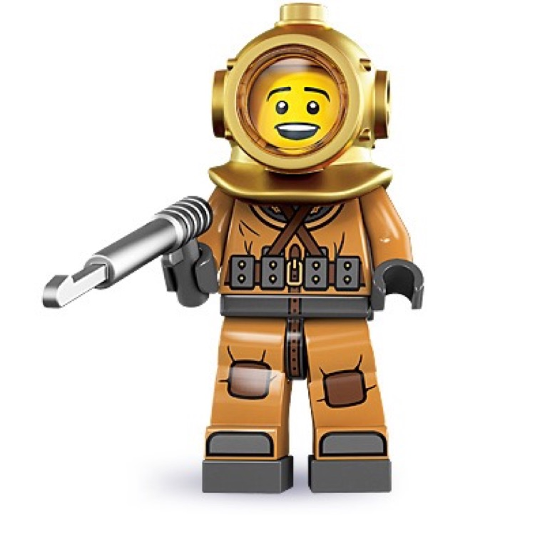 LEGO Collectible Minifigures: 8833 Series 8 Diver NEW