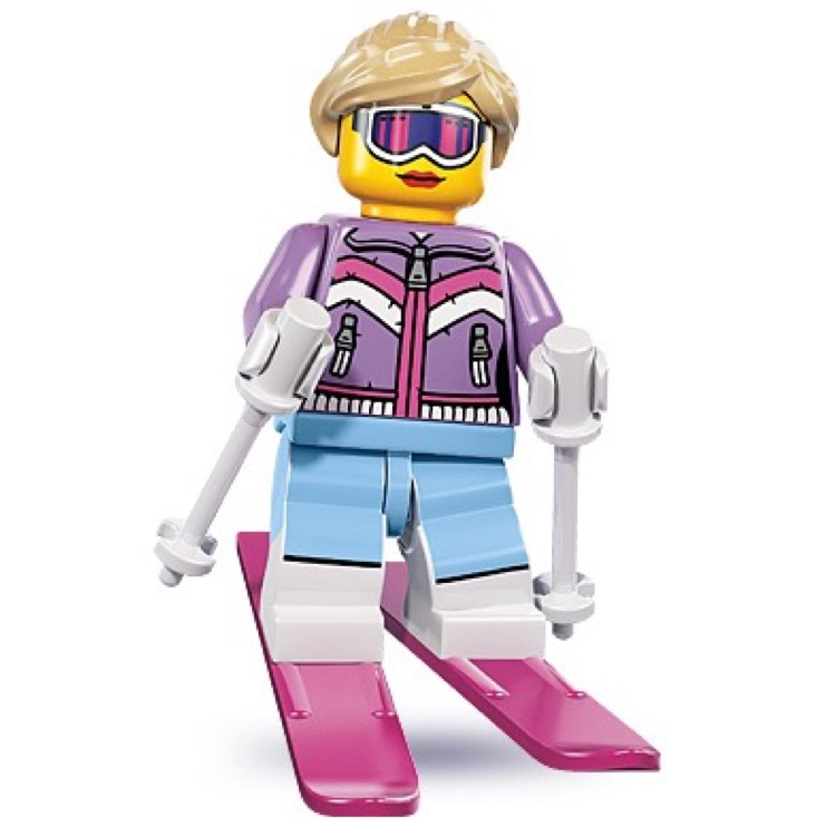 LEGO Collectible Minifigures: 8833 Series 8 Downhill Skier NEW