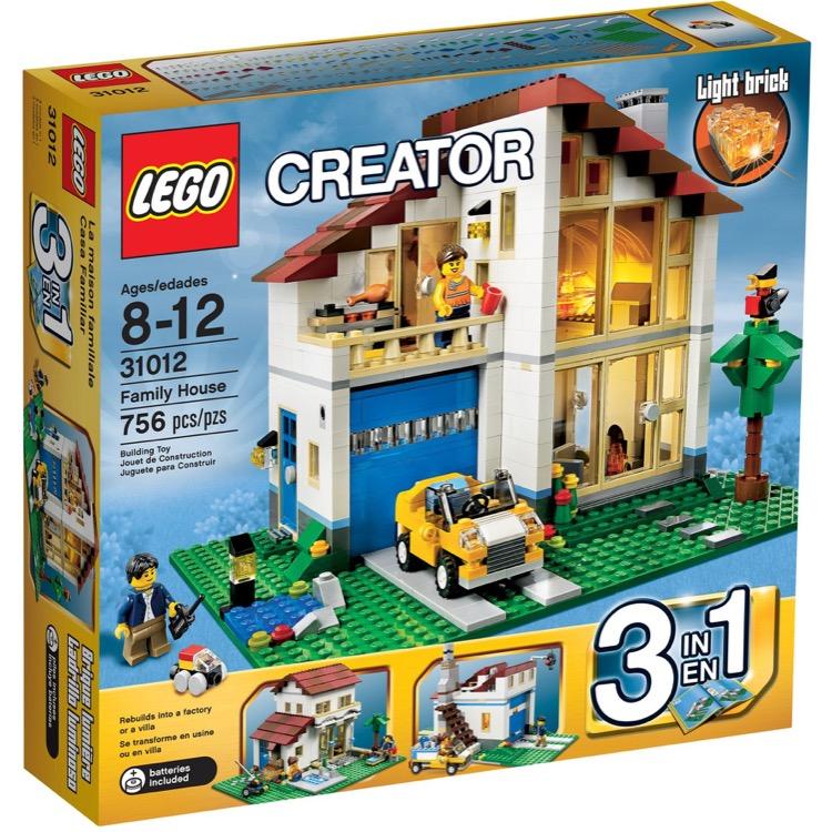 lego creator sets 31012 family house new. Black Bedroom Furniture Sets. Home Design Ideas