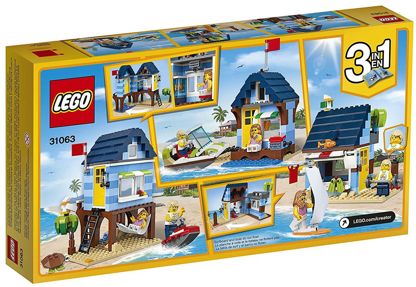lego creator sets 31063 beachside vacation new. Black Bedroom Furniture Sets. Home Design Ideas