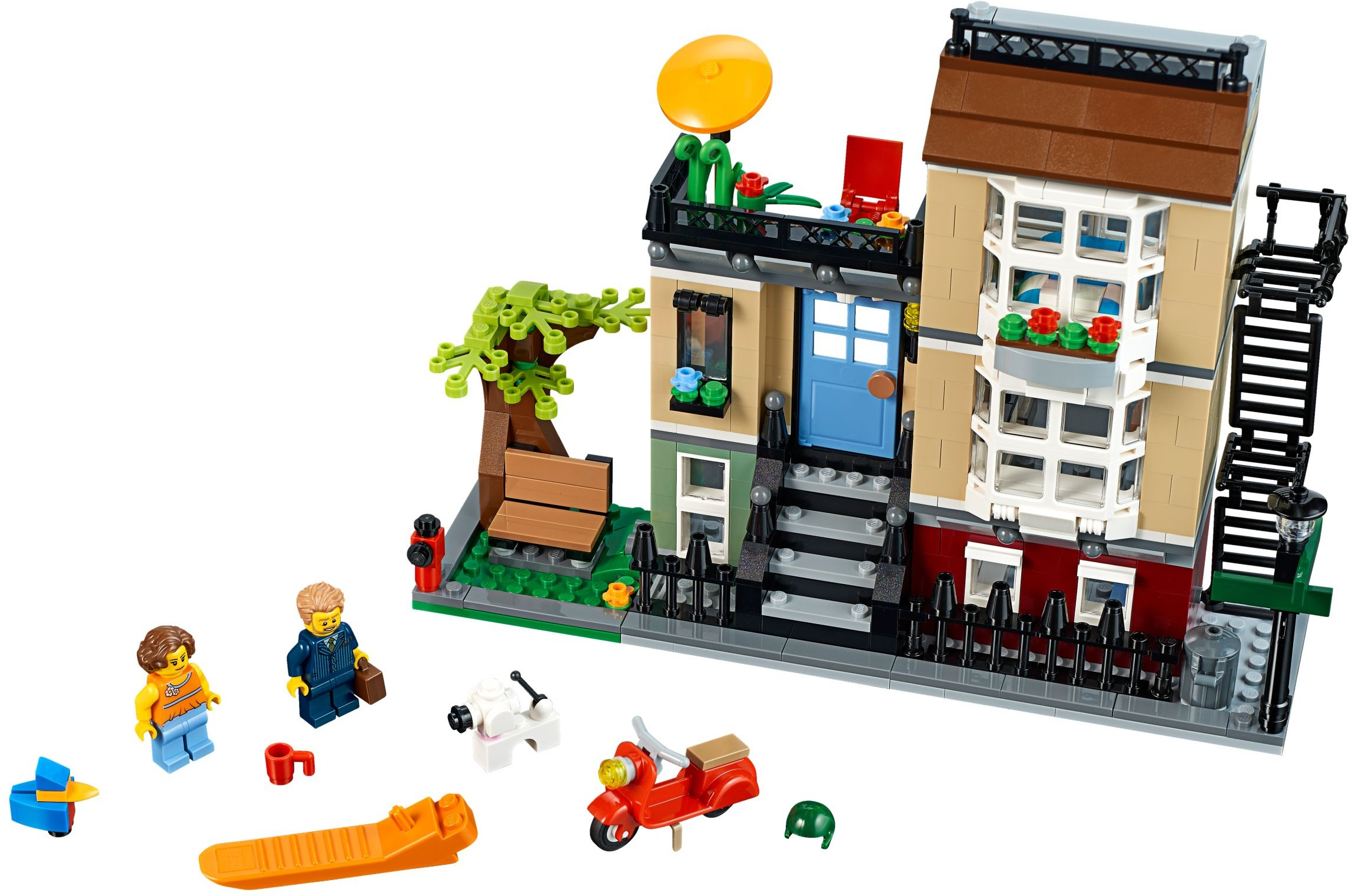 Lego creator sets 31065 park street townhouse new for Modele maison lego classic