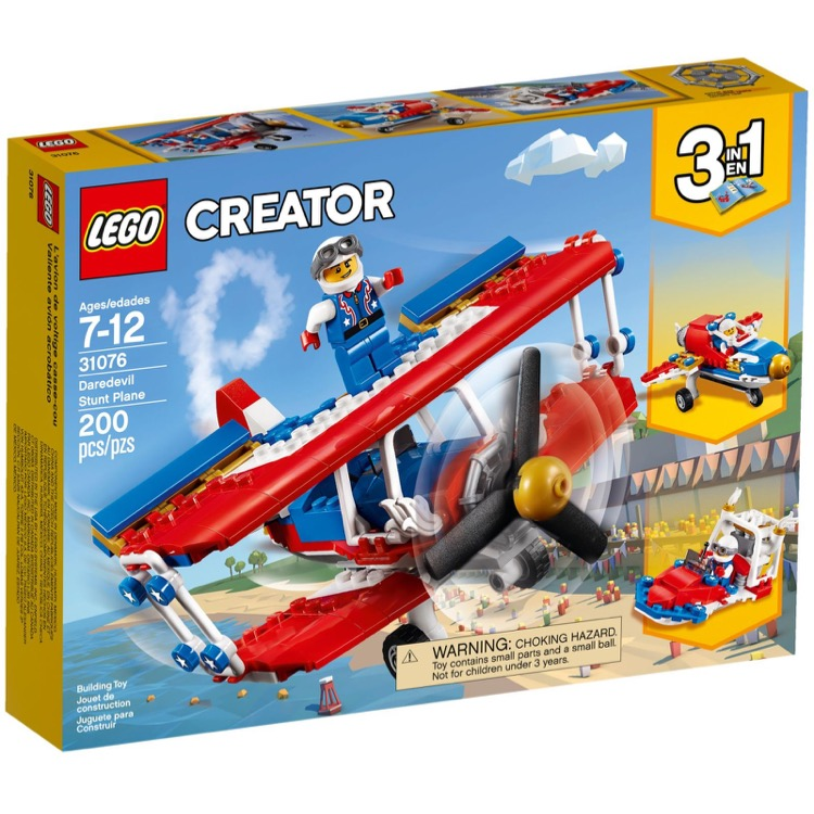 lego creator sets 31076 daredevil stunt plane new. Black Bedroom Furniture Sets. Home Design Ideas