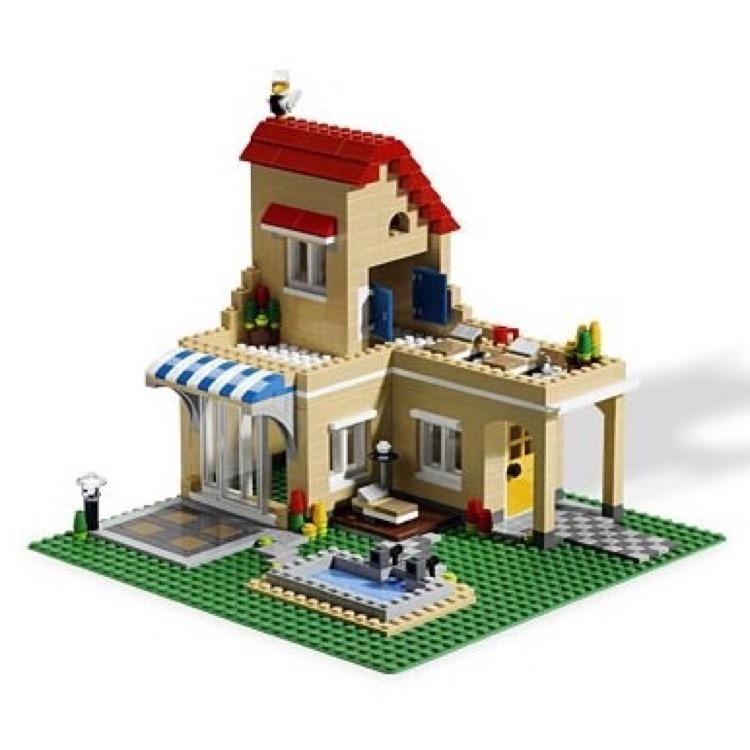 lego creator sets 6754 family home new. Black Bedroom Furniture Sets. Home Design Ideas