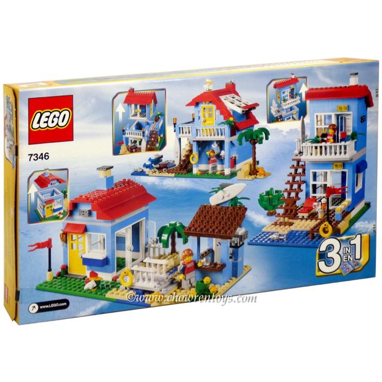 lego creator sets 7346 seaside house new. Black Bedroom Furniture Sets. Home Design Ideas