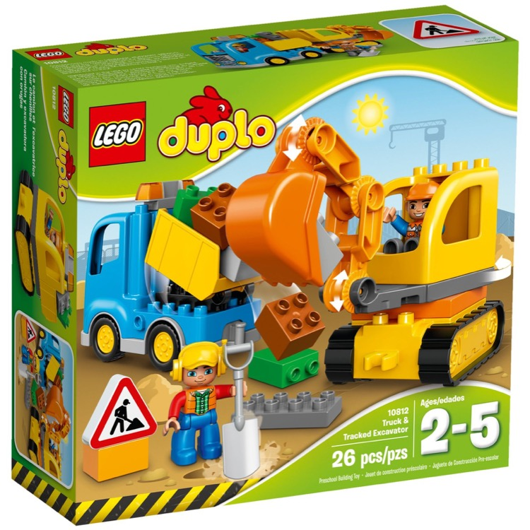 LEGO DUPLO Sets: 10812 Truck & Tracked Excavator NEW