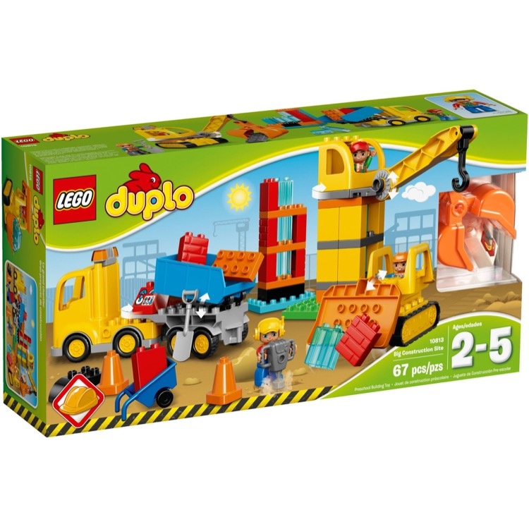 lego duplo sets 10813 big construction site new. Black Bedroom Furniture Sets. Home Design Ideas