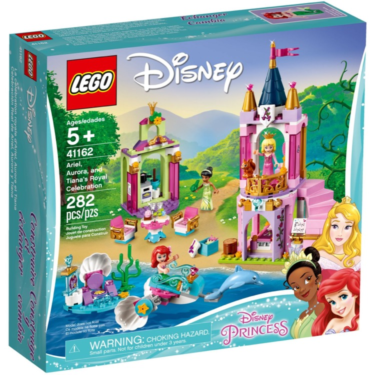 LEGO Disney Princess Sets: 41162 Ariel, Aurora, and Tiana's Royal Celebration NEW