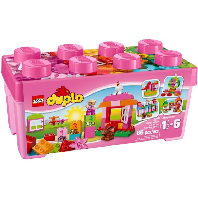 LEGO DUPLO Sets: 10571 All-in-One-Pink-Box-of-Fun NEW