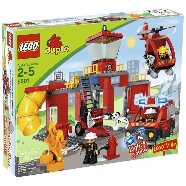 LEGO DUPLO Sets: 5601 Fire Station NEW *Damaged Box*