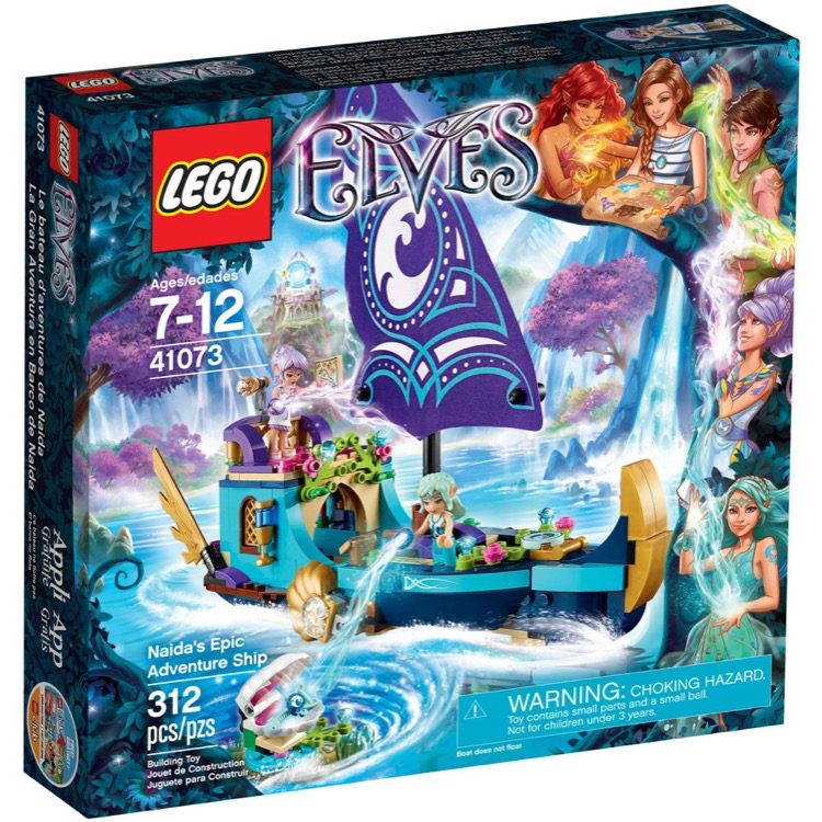 LEGO Elves Sets: 41073 Naida's Epic Adventure Ship NEW