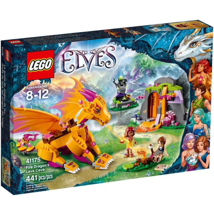 LEGO Elves Sets: 41175 Fire Dragon's Lava Cave NEW