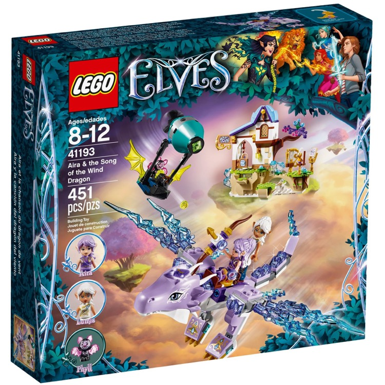 LEGO Elves Sets: 41193 Aira & the Song of the Wind Dragon NEW