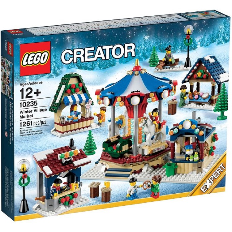 LEGO Exclusives Sets: Winter Village 10235 Winter Village Market NEW *Damaged Box*