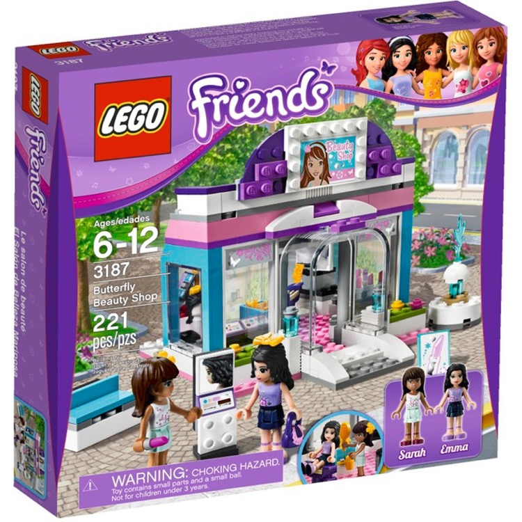 LEGO Friends Sets: 3187 Butterfly Beauty Shop NEW