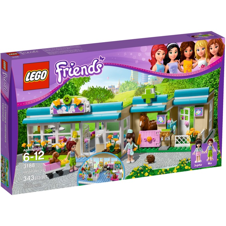 LEGO Friends Sets: 3188 Heartlake Vet NEW