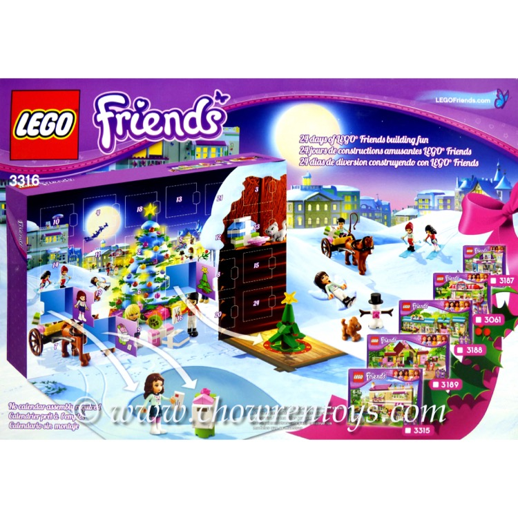 lego friends sets 3316 friends advent calendar new rough. Black Bedroom Furniture Sets. Home Design Ideas
