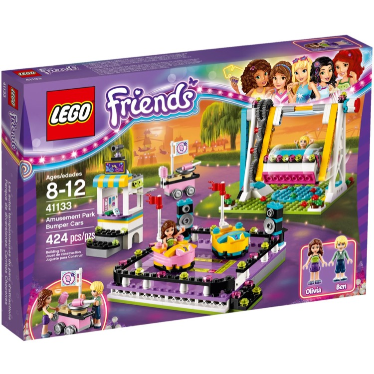LEGO Friends Sets: 41133 Amusement Park Bumper Cars NEW *Rough Shape*