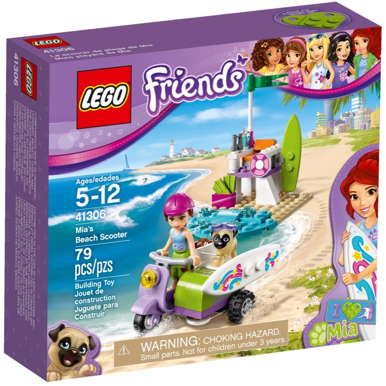 LEGO Friends Sets: 41306 Mia's Beach Scooter NEW