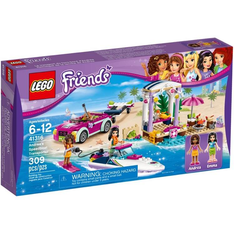 LEGO Friends Sets: 41316 Andrea's Speedboat Transporter NEW