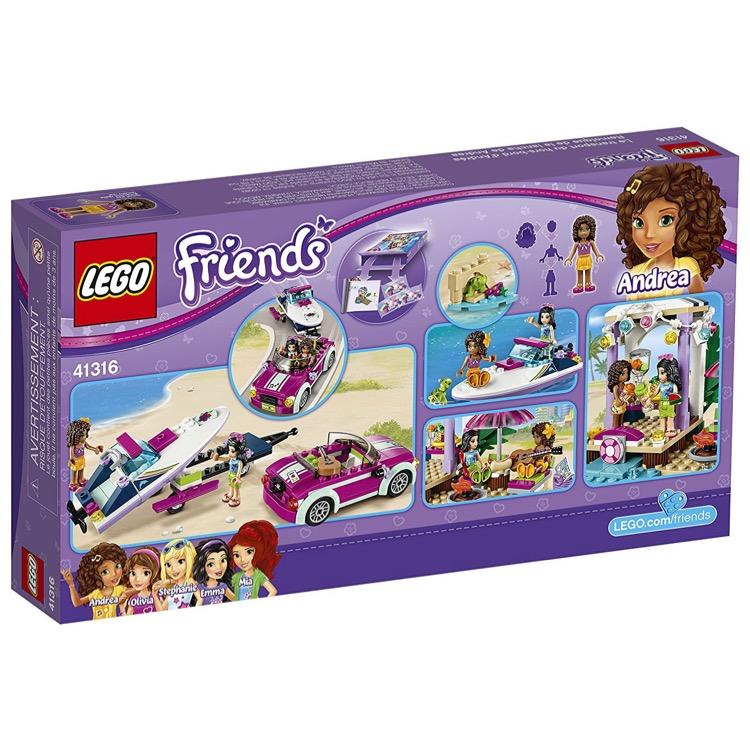 Lego Beach House Walmart: LEGO Friends Sets: 41316 Andrea's Speedboat Transporter NEW