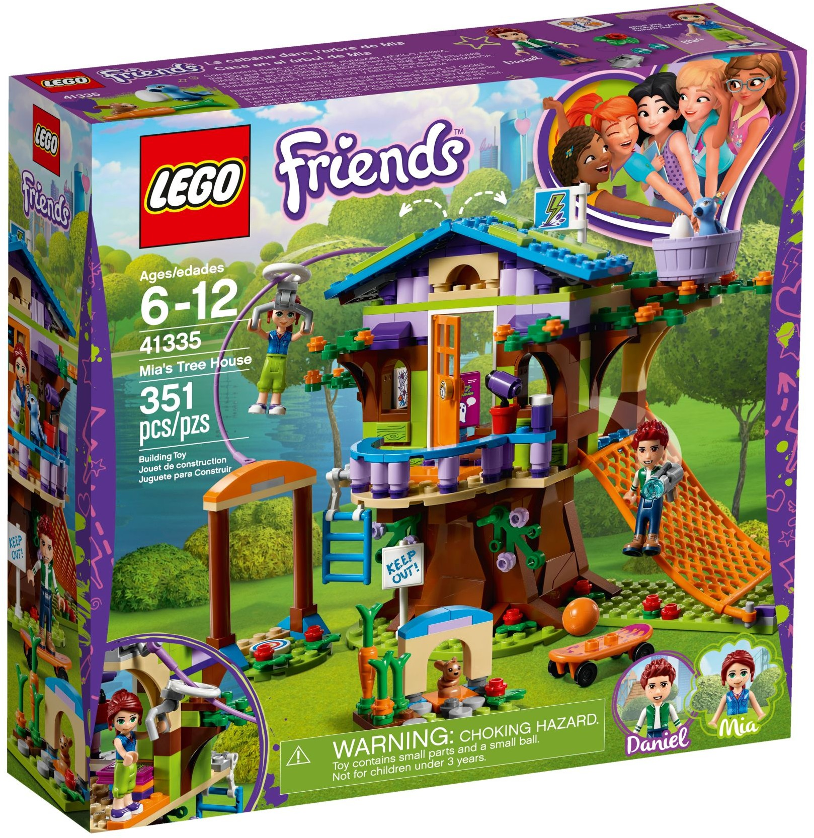 LEGO Friends Sets: 41335 Mia's Tree House NEW  *Damaged Box*